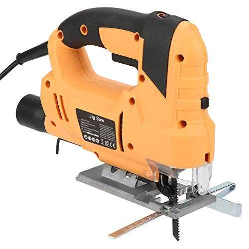 Electric Jigsaw, 800W Handheld Electric Jig Saw Laser Guide Dust Extraction with Saw Blades 0-3000rpm Maximum Cutting Depth 80mm US Plug 110V