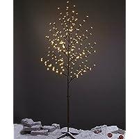 Lightshare 6 Feet Cherry Blossom Tree, 208 luces LED, blanco cálido, para árboles de Navidad, fiestas, bodas y mucho más.