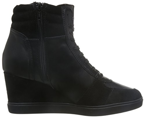 Geox Women's D Eleni a Hi-Top Sneakers Black a9mtA05fTt