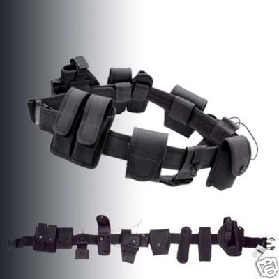 Police Utility Belt (Modular Equipment System Belt For Security & Police by Bargain Crusader)