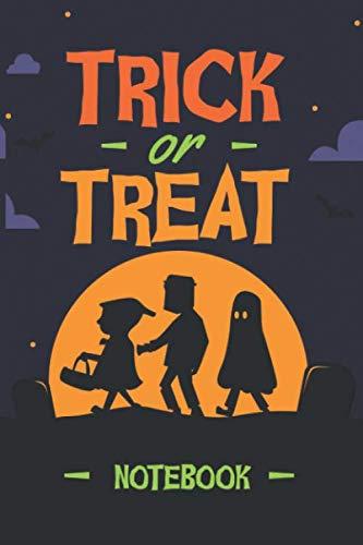 Citrouilles Pour Halloween (Trick or Treat NOTEBOOK: Carnet de notes à remplir | 100 pages - 6x9 pouces | Halloween - des Bonbons ou un Sort - Idéal pour Recettes de cuisine -)