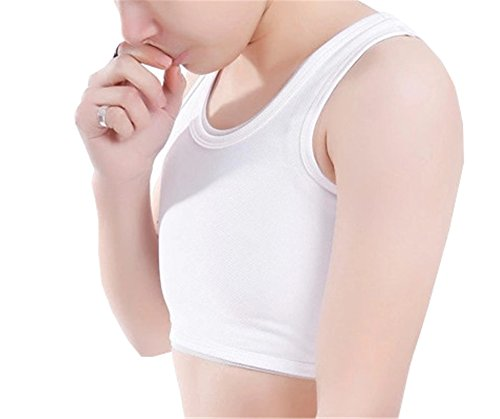 UPC 609248328770, Breathable Super Flat Mesh Lesbian Tomboy Compression 3 Rows Clasp Chest Binders (X-Large, White)