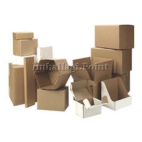 10 piezas cajas de cartón embalaje envío 28 x 22 x 8 cm fustellata Avana: Amazon.es: Bricolaje y herramientas