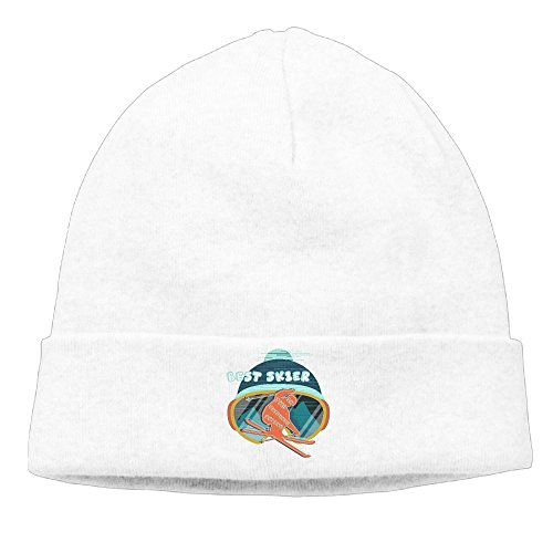 Best Skier In The Universe Skiing Slouchy Beanie Winter Designer Flat Brim\r\n Wool