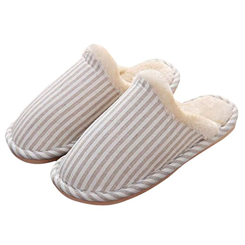 Memory Fodera Soft Pantofole Casa Uomini Clog Donne Foam Beige Peluche Indoor Adulto Butterme Cotton CYq00Z