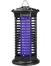 DINOKA Zanzariera Elettrica, UV LED Lampada Anti Zanzare Interior Zanzariera per Lampada Zanzara, Silenziatore Lampada Anti-Insetti e Non Tossico (Nero)