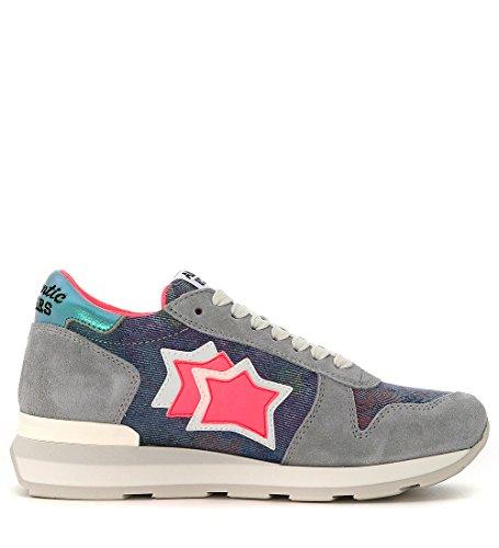 denim en piel gamuzada y Sneaker Atlantic gris claro Stars Gemma Azul qAxIFIwtz