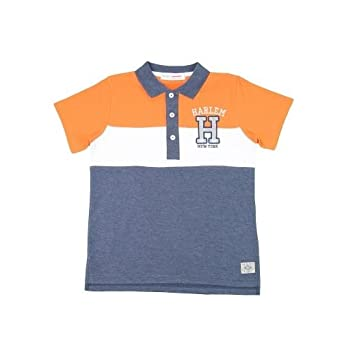 Niños Polo Camisa multicolor naranja/blanco 8-9 Años: Amazon.es ...