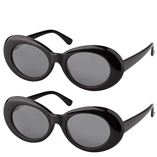 ef95591da1f  One Price for Two  Elimoons Clout Goggles Bold Retro Oval Mod Thick Frame  Sunglasses