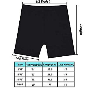 Resinta 6 Pack Dance Shorts Girls Bike Short Breathable and Safety 6 Color