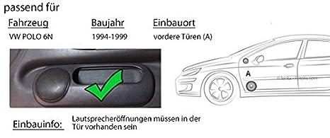 VW Polo 6N - Ground Zero GZIC 650X - 16 cm sistema de altavoces ...