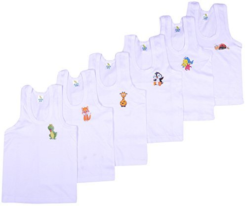 9b0ae121a Kuchipoo Boys Regular Fit Cotton Vest (Pack of 6)  Amazon.in ...