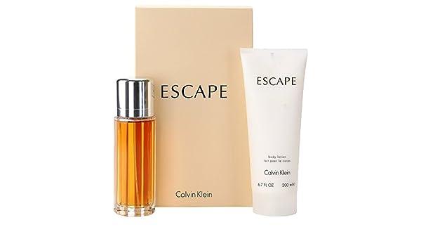 Escape para mujer estuche – 100 ml Eau de Parfum Vaporizador + 200 ml Leche Corporal: Amazon.es: Belleza