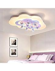 LED techo luces de techo Lámparas de vivero creativo estrellas blancas LAMPSHADE nube DeckenbeSternen iluminación joven dormitorios Villa Salón remota de control ajustable