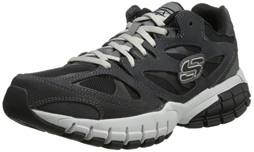 USA Skechers Sneaker Juke USA Notable Skechers Mens Black Charcoal Force rafwa