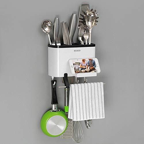 cucchiai Ecoco BR forchette e Asciugamani di Carta per Cucina Scolaposate Multifunzione a 5 Scomparti da Parete
