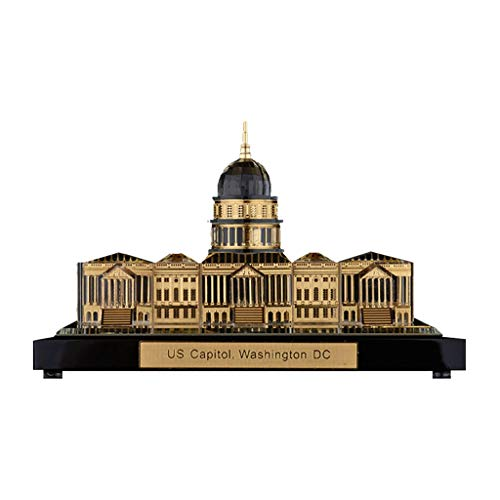 YHY Statue Decoration Tourist Souvenir US Capitol Building Model Building Crafts Shooting Decoration (Color : Gold, Size : 128.57.5CM)