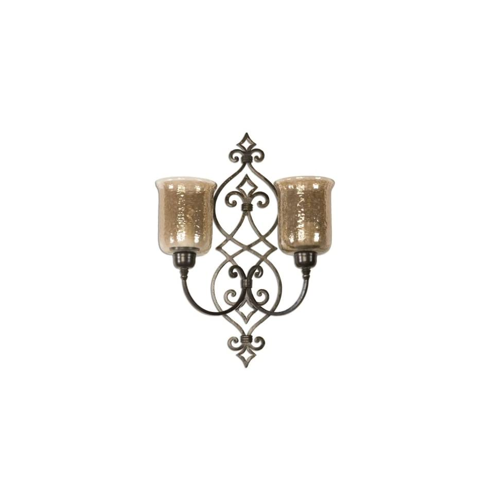 Hand Forged Metal   Double Wall Sconce