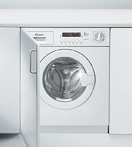 Candy CDB 485 DN1-S Integrado Carga frontal A Color blanco lavadora - Lavadora-secadora (Carga frontal, Integrado, Color blanco, Izquierda, Botones, Giratorio, 5 kg)