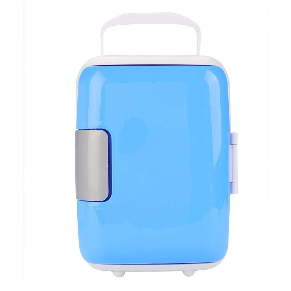 12V 4L Portable Car Refrigerator Multi-functional Unique Travel Trip Food Warmer Cooler Fridge(Blue)