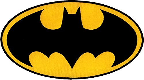 Batman - Large Logo - Embroidered Iron On or Sew On Patch/Badge]()
