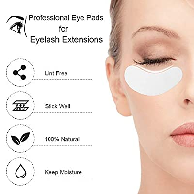 100 Pairs Under Eye Pads, Eyelash Extension Eye Pads, 100% Natural Hydrogel Eye Patch Lash Gel Pad for Eyelash Extensions supplies, Beauty Makeup Eye Mask Kit