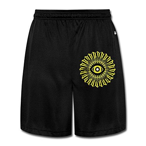 HandSon Men's Cute Trials Of Osiris Logo Short Running Pants Black Size 3X
