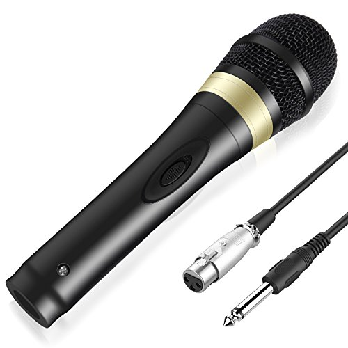 (TONOR Wired Dynamic Microphone, XLR Handheld Karaoke Vocal Mic with 13ft Cable for Performance/Stage/Party/Karaoke Machine/Public Speaking/Wedding/Indoor Outdoor Activity, Black)