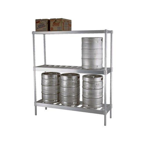 Material Handling Stacker (Newage Industrial 31842TT7 Keg Stacker Complete Unit, 4 Keg Capacity, 3 Shelf, 18