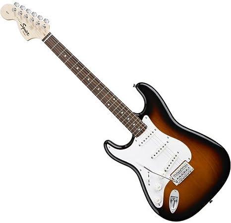 Fender Squier Affinity Strat RW Brown Sunburst LH – Guitarra eléctrica: Amazon.es: Instrumentos musicales