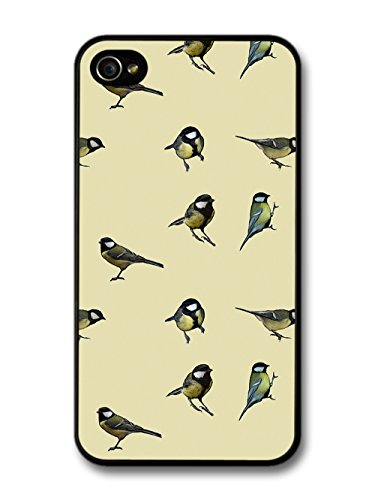 Bird Animal Nature Cream Painting Pattern Illustration case for iPhone 4 4S