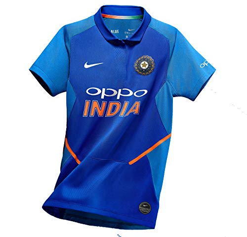 75e559243541 Crazy Prints Dri Fit Indian Cricket Jersey 2019 for Cricket Fans (Medium)