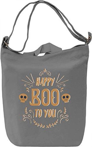 Happy boo to you Borsa Giornaliera Canvas Canvas Day Bag  100% Premium Cotton Canvas  DTG Printing 