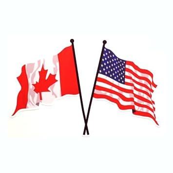 canada usa flag sticker 6 25 x 4 amazon ca home kitchen