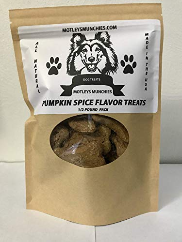 Motleys Munchies All Natural Dog Treats Pumpkin Spice Dog Biscuits