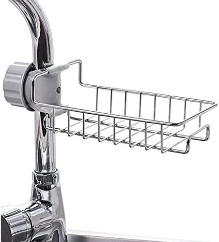 La Rosa Kitchen Faucet Sponge Holder VECU Stainless Steel Sink Caddy Organizer Drain Rack for Kitchen Accessories…