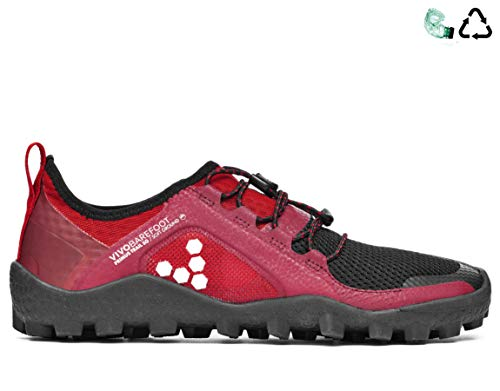 vivobarefoot Primus Women's Lightweight Soft Ground Trail Running Shoe, Black, 42 D EU (11 US)