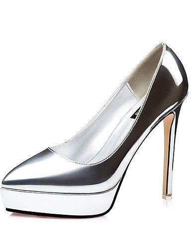 GGX/ Damen-High Heels-Kleid / Lässig / Party & Festivität-Lackleder-Stöckelabsatz-Absätze / Plateau / Spitzschuh-Blau / Rot / Silber / Grau / bronze-us6.5-7 / eu37 / uk4.5-5 / cn37
