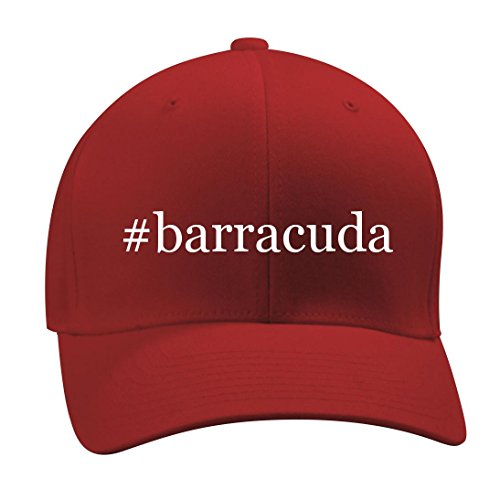 #barracuda - A Nice Hashtag Men's Adult Baseball Hat Cap, Red, Small/Medium