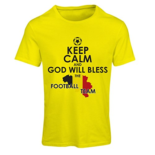 Camiseta mujer Dios bendecirá al equipo de fútbol Belga, La bandera Belga: Amazon.es: Ropa y accesorios