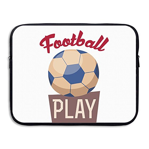 Business Briefcase Sleeve Cool Football Paly Laptop Sleeve Case Cover Handbag For 15 Inch Macbook Pro / Macbook Air / Asus / Dell / Lenovo / Hp / Samsung / - Good Paly
