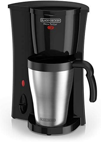BLACK+DECKER Coffeemaker, 1, Black/Stainless Steel
