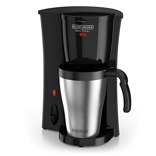 - Black & Decker DCM18S Coffeemaker, 1, Black/Stainless Steel