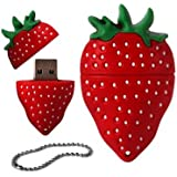 4 GB a forma di fragola da USB 2,0 Flash Drive, 8 GB