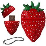 4GB Novelty Cute Strawberry USB 2.0 Flash Drive Data Memory Stick Device