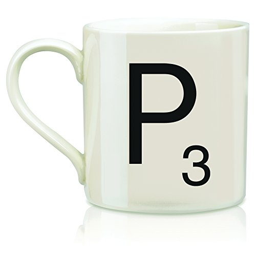 "SCRABBLE Vintage Ceramic Letter""P"" Tile Coffee Mug"