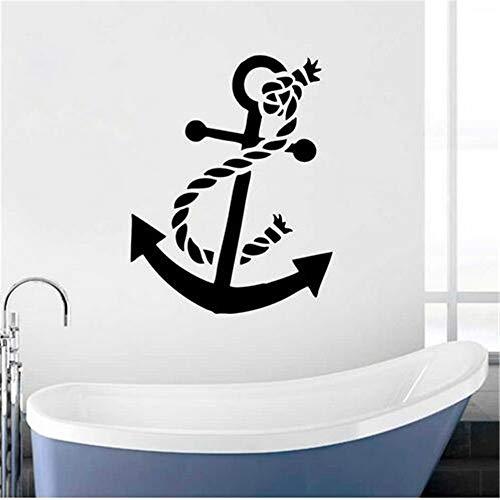 suuyar Ancla De Barco Vinilo Tatuajes De Pared Hogar Baño Decoración Nuevo Diseño Ancla Etiqueta De La Pared Estilo del...