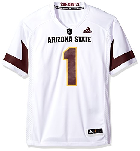 (adidas NCAA Arizona State Sun Devils Adult Men Premier Football Jersey, Large, White)