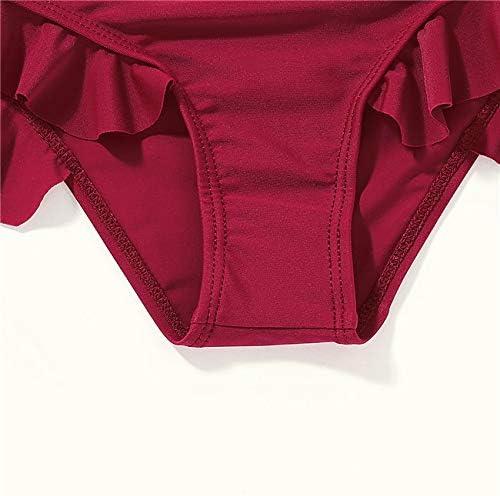 Honykids Toddler Baby Girl Swimsuit Bow-Knot Ruffle One Piece Bathing Suit Swimwear