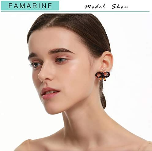 Pair Tortoise Shell Round Studs Circle Post w Hole Classic Brown Tortoise Shell Earrings Earring Findings Acrylic Circle USA ANGELINE